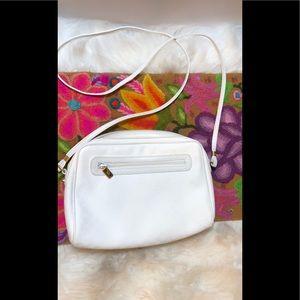 Vintage Gucci white monogram crossbody bag